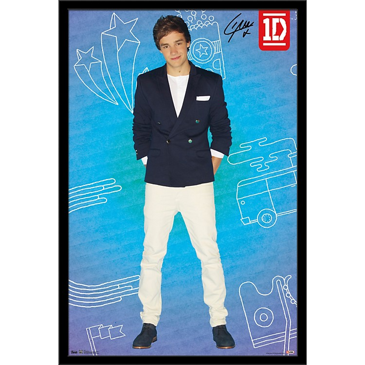 Trends International One Direction - Liam Pop Poster Framed Black