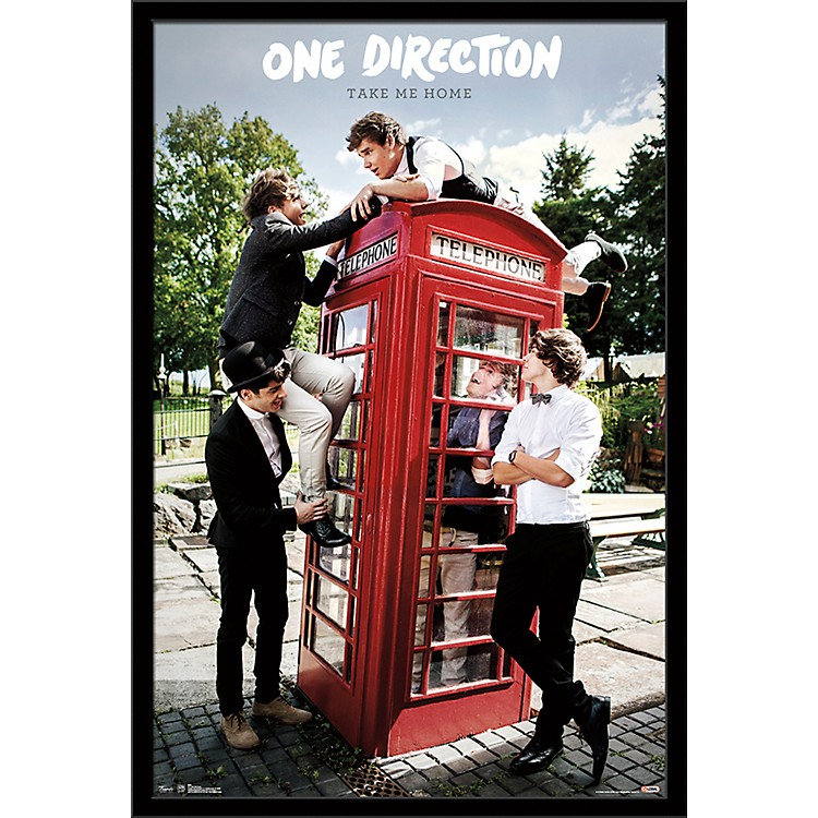 Trends International One Direction - Take Me Home Poster Framed Black