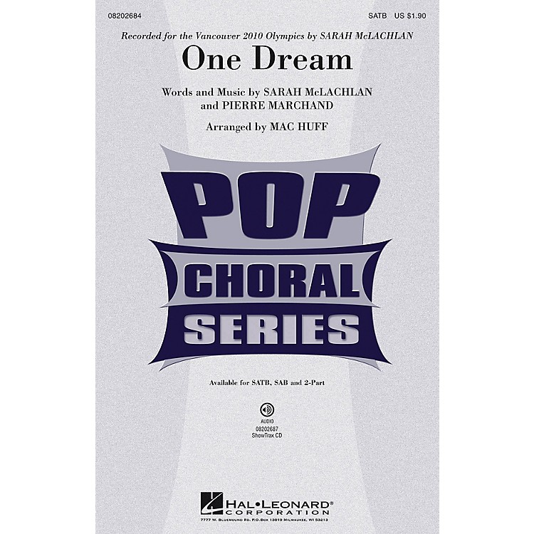 Hal LeonardOne Dream ShowTrax CD by Sarah McLachlan Arranged by Mac Huff