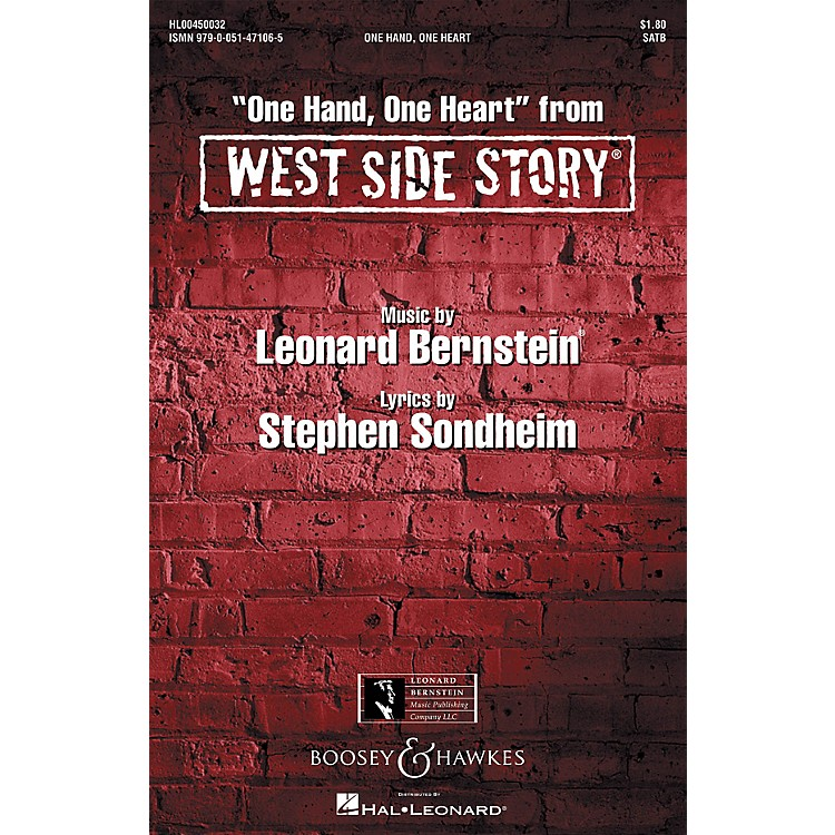 Hal LeonardOne Hand, One Heart (from West Side Story) SSA Arranged by William Stickles