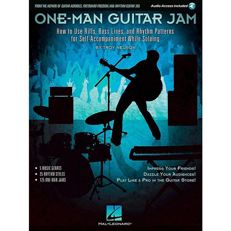 Hal Leonard One-Man Guitar Jam Book with Online Audio