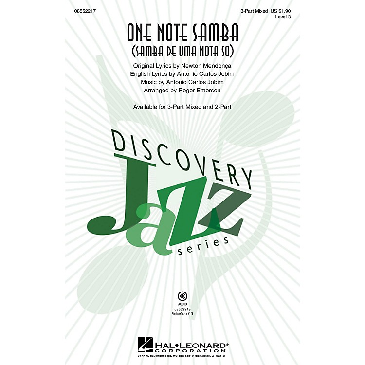 Hal Leonard One Note Samba VoiceTrax CD by Antonio Carlos Jobim Arranged by Roger Emerson