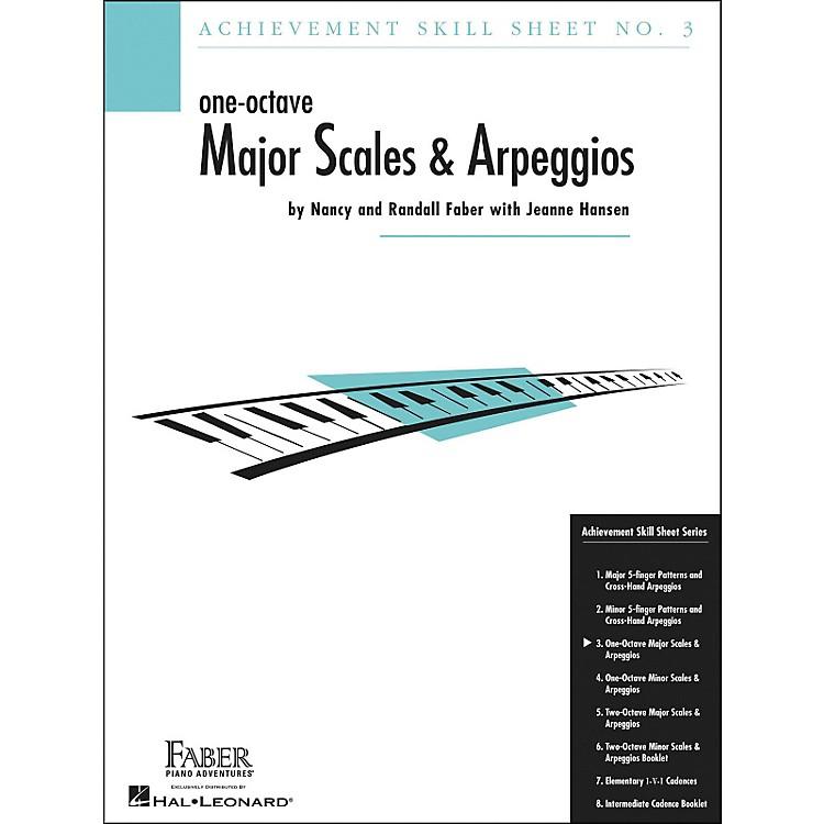 Faber Piano AdventuresOne-Octave Major Scales And Arpeggios Skill Sheet No.3 - Faber Piano