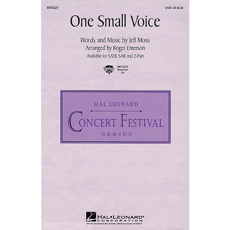 Hal LeonardOne Small Voice (from Sesame Street) 2-Part Arranged by Roger Emerson