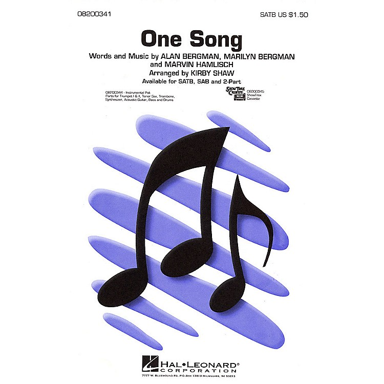 Hal LeonardOne Song 2-Part Arranged by Kirby Shaw