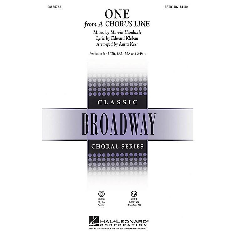 Hal LeonardOne (from A Chorus Line) SAB Arranged by Anita Kerr