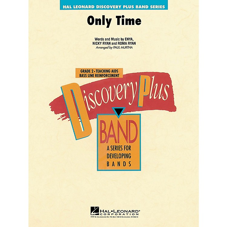 Hal LeonardOnly Time - Discovery Plus Concert Band Series Level 2 arranged by Paul Murtha
