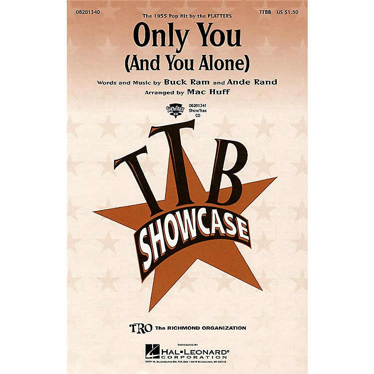 Hal LeonardOnly You (And You Alone) ShowTrax CD by The Platters Arranged by Mac Huff