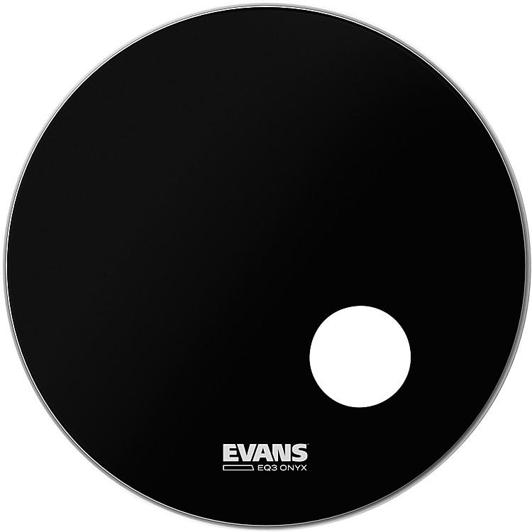EvansOnyx Resonant Bass Drumhead24 in.