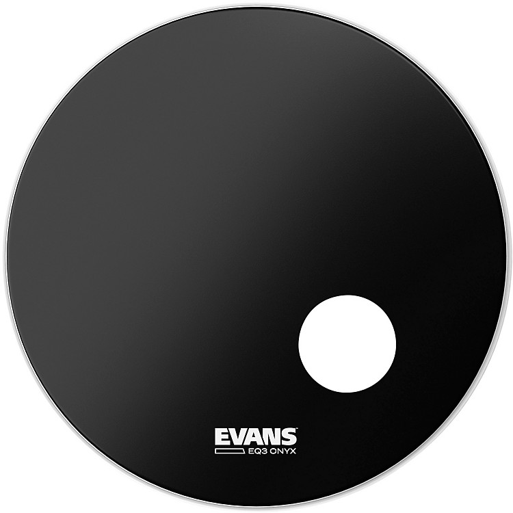 Evans Onyx Resonant Bass Drumhead 24 in.