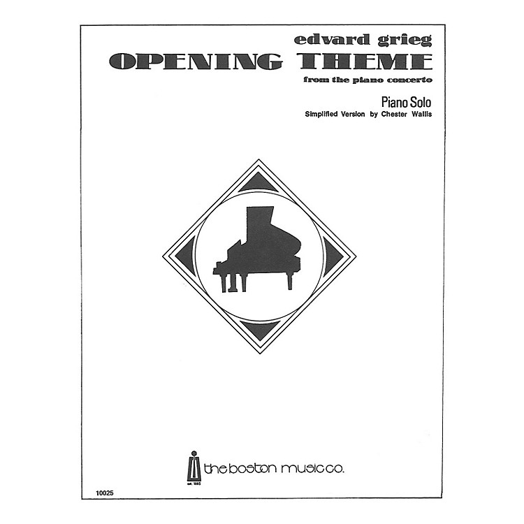 Music SalesOpening Theme From The 1st Movement Of The Piano Concerto (Simplified) Music Sales America Series