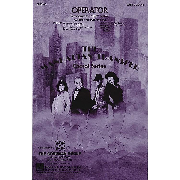 Hal LeonardOperator SATB by The Manhattan Transfer arranged by Kirby Shaw