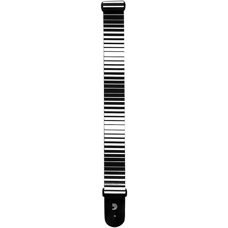 D'Addario Planet WavesOptical Art Guitar StrapWhite Stripes
