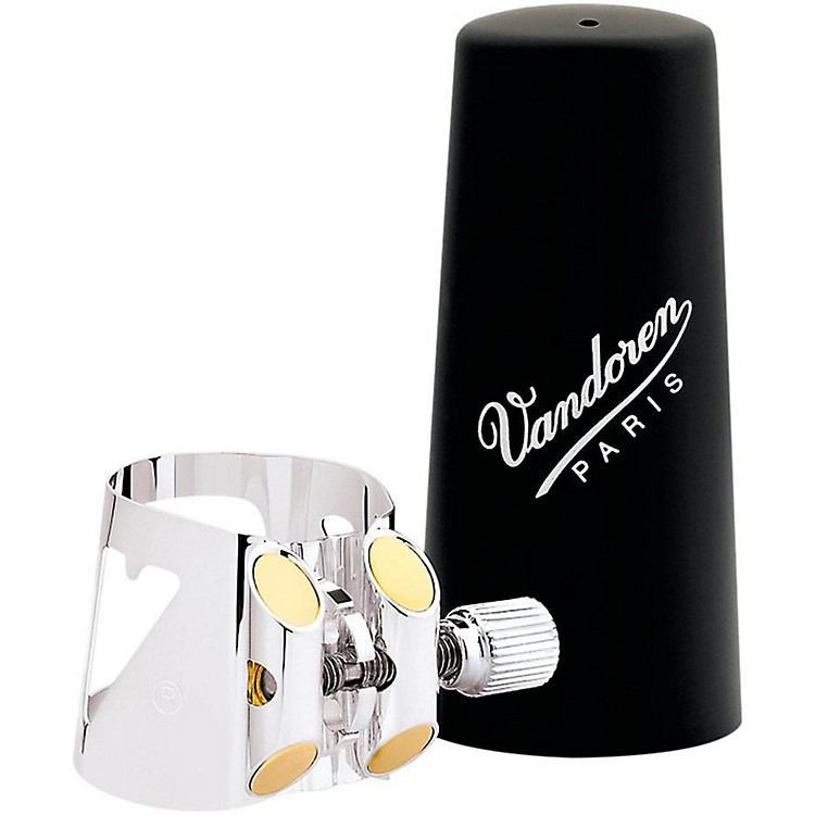 Vandoren Optimum Bass Clarinet Silver-plated Ligature & Plastic Cap Bass Clarinet - Silver-Plated with Plastic Cap