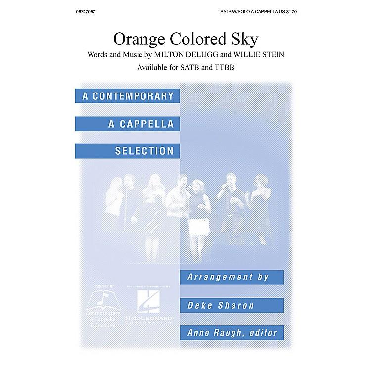 Hal LeonardOrange Colored Sky SATB a cappella arranged by Deke Sharon