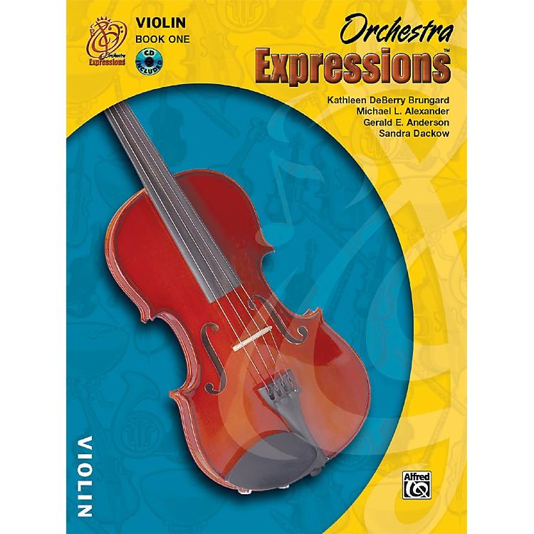 AlfredOrchestra Expressions Book One Student Edition Violin Book & CD 1