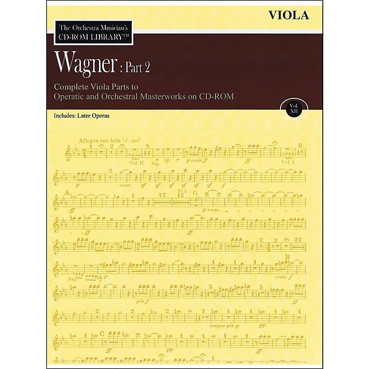 Hal LeonardOrchestra Musician's CD-Rom Library Vol 12 Wagner Part 2 Viola