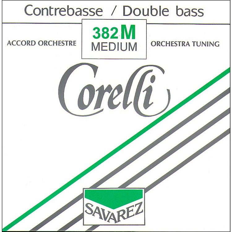 Corelli Orchestral Nickel Series Double Bass D String 3/4 Size Medium Ball End