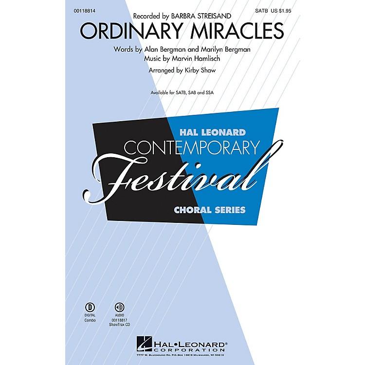 Hal LeonardOrdinary Miracles (SATB) SATB by Barbara Streisand arranged by Kirby Shaw
