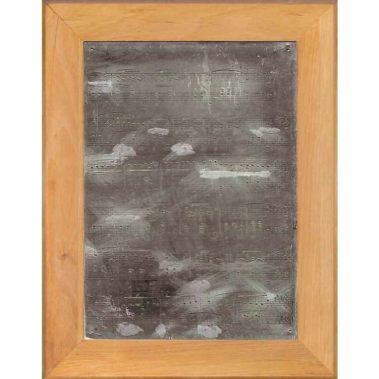 G. Henle VerlagOriginal Music Engraving Plate (Mounted with Wooden Frame) Henle Critical Report Series by Various