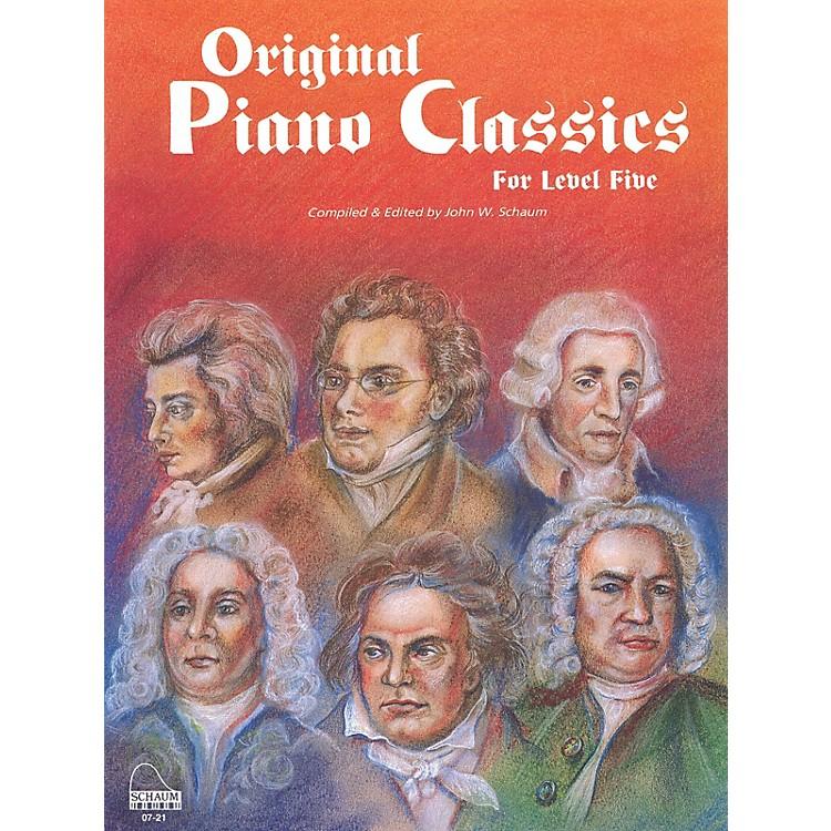 SCHAUMOriginal Piano Classics Educational Piano Series Softcover