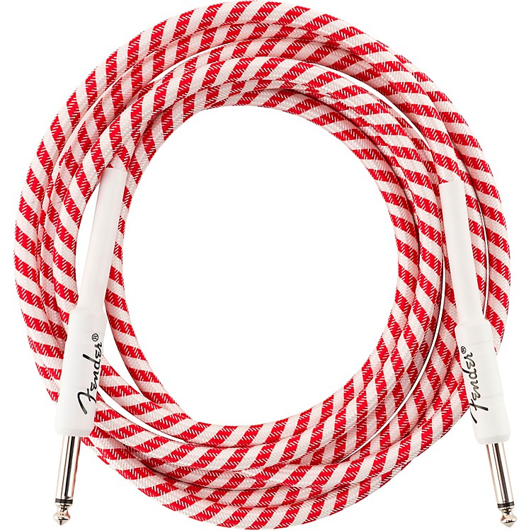FenderOriginal Series Straight to Straight Limited-Edition Candy Cane Cable10 ft.