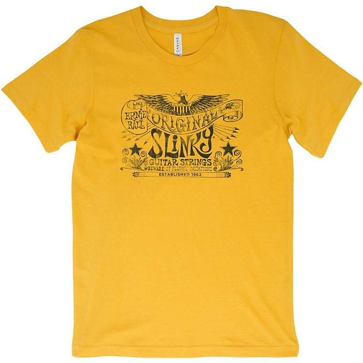 Ernie BallOriginal Slinky Maize Yellow T-ShirtMediumYellow