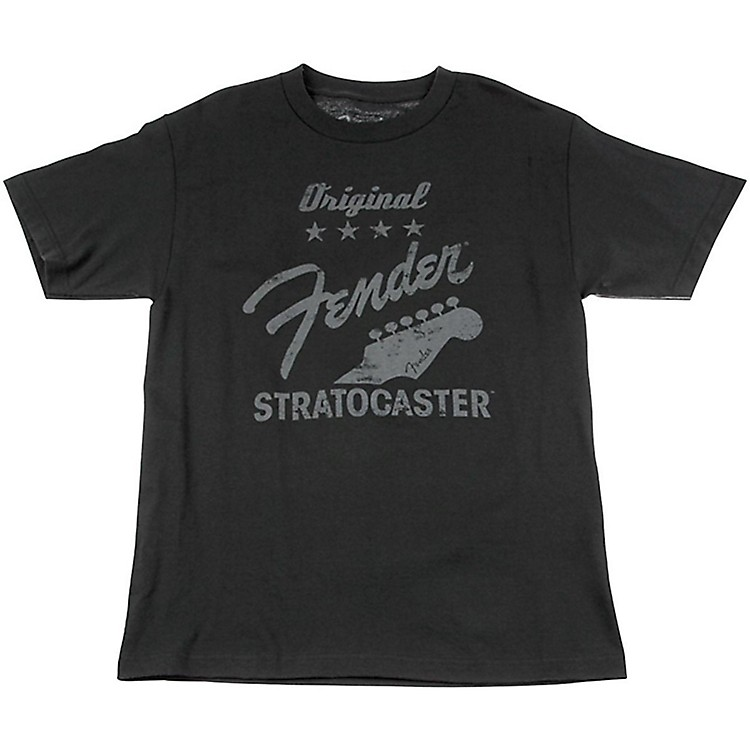 Fender Original Strat T-Shirt, Charcoal Small