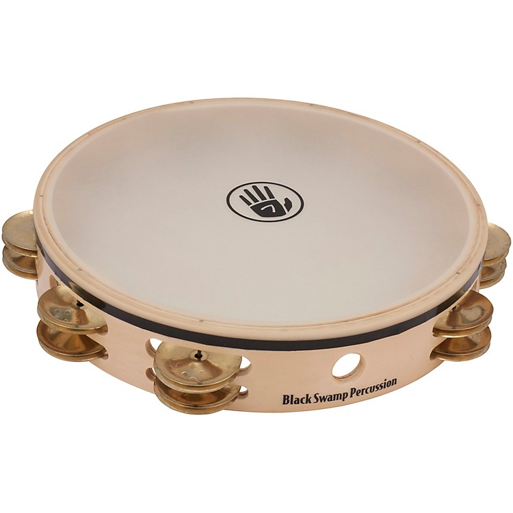 Black Swamp Percussion Overture Series 10in Tambourine Double Row with Remo head Brass TDOV