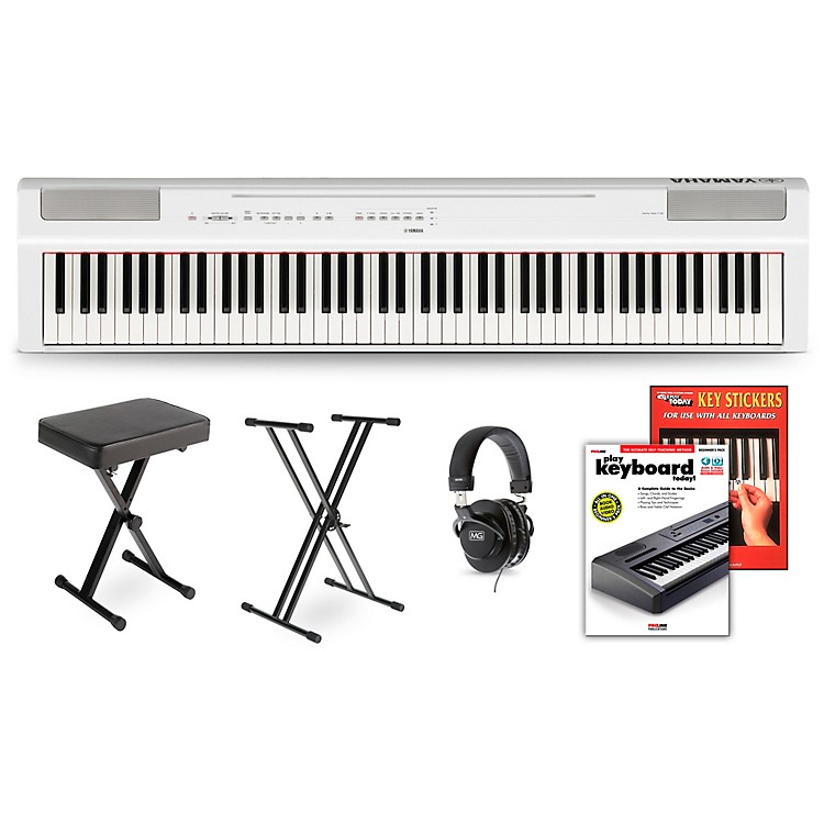 Yamaha P-125 Digital Piano White Deluxe Package