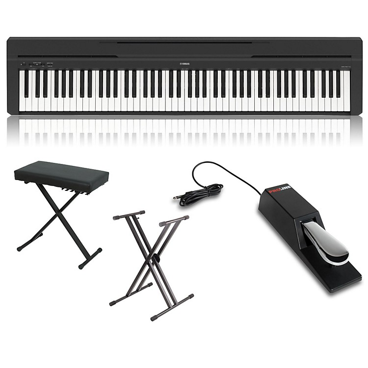 YamahaP-45 88-Key Weighted Action Digital Piano PackageBlackHome Package