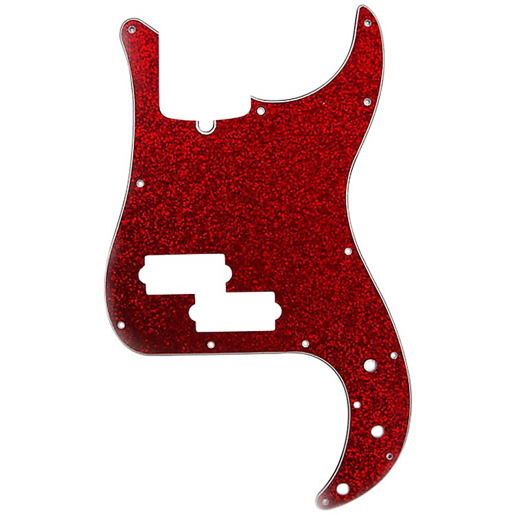 D'Andrea P-Bass Pickguard Red Sparkle