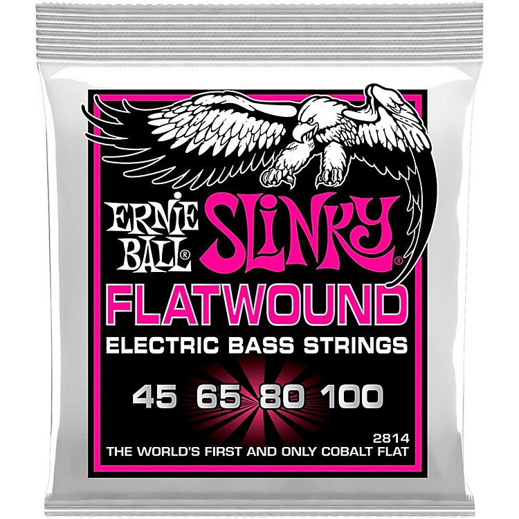 Ernie Ball P02814 Super Slinky Flatwound Bass Strings