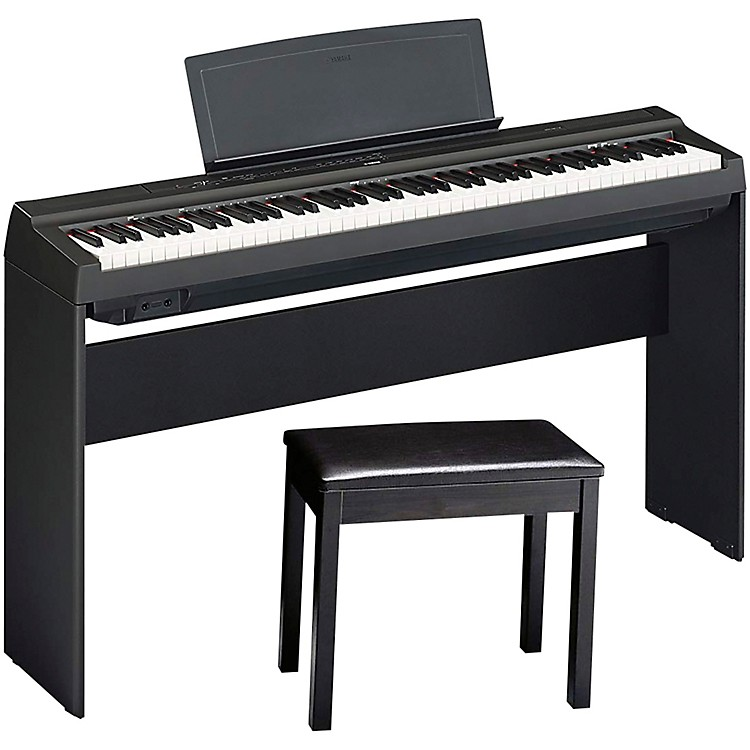YamahaP125BLB Digital Piano with Wooden Stand and BenchBlack