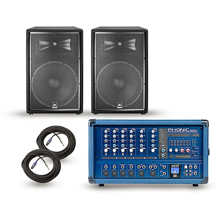 PhonicPA Package Powerpod 630R Mixer with JRX200 Speakers15