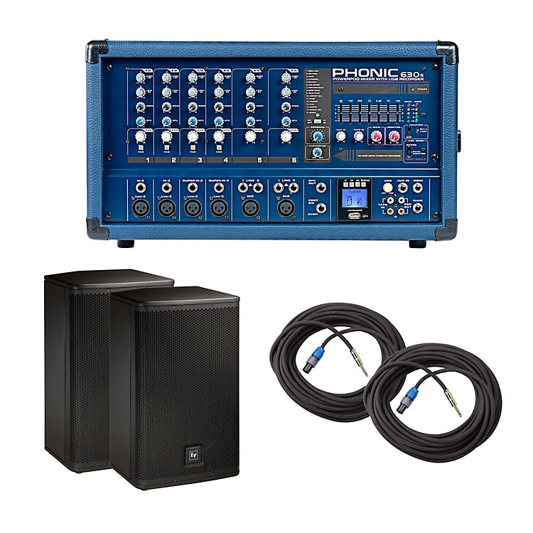 PhonicPA Package with Powerpod 630R Mixer and Electro-Voice Live X Speakers12