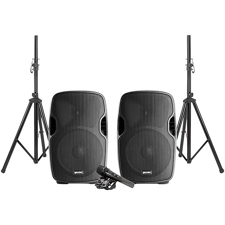 GeminiPA-SYS15 Complete Dual Speaker PA Package