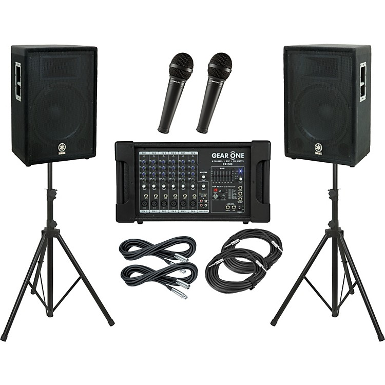 Gear OnePA1300 / Yamaha A15 PA Package