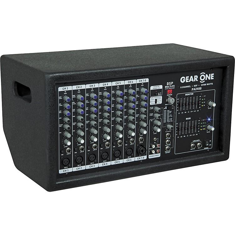 Gear OnePA2400 8 Ch Powered Mixer 2 x 400 wt