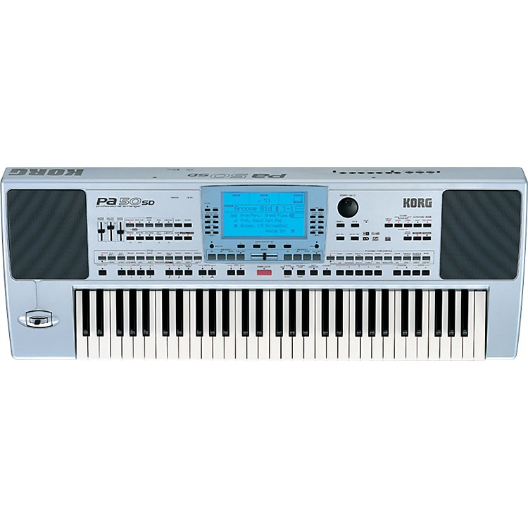 KorgPA50SD 61-Key Professional Arranger with 2-Way Speakers and SD Card
