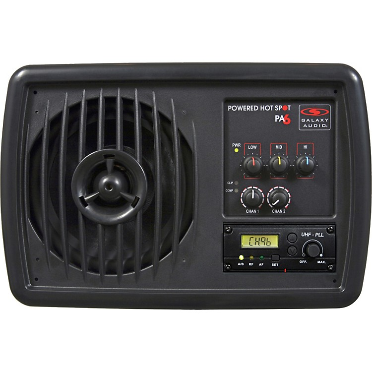 Galaxy AudioPA6SR Powered Hot Spot with Wireless Receiver Card