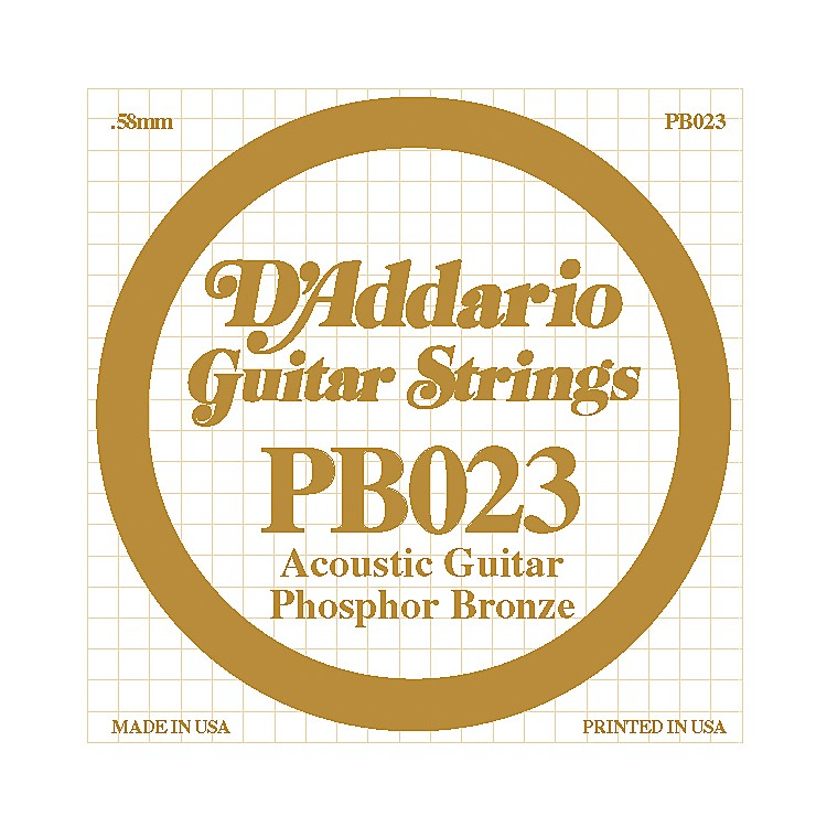 D'AddarioPB023 Phosphor Bronze Acoustic Guitar String