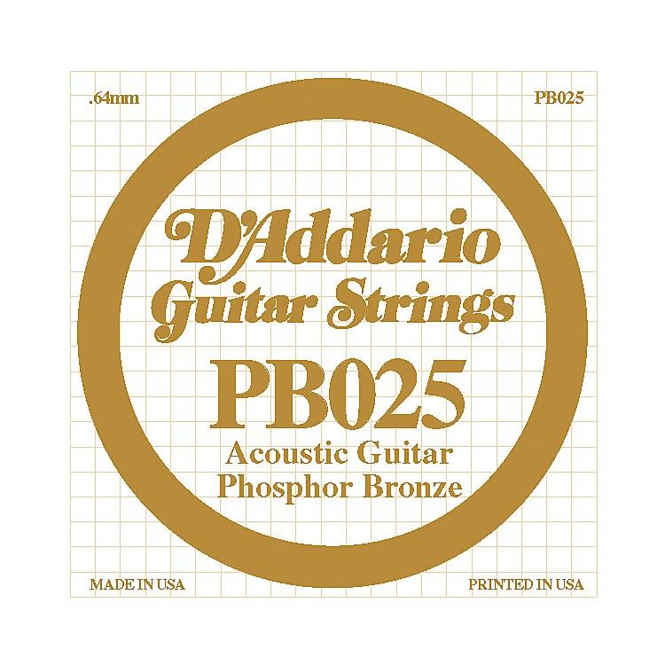 D'AddarioPB025 Phosphor Bronze Single Acoustic Guitar String