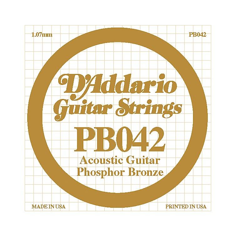 D'AddarioPB042 Phosphor Bronze Guitar Strings