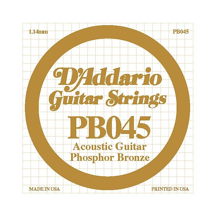 D'AddarioPB045 Phosphor Bronze Single Acoustic String