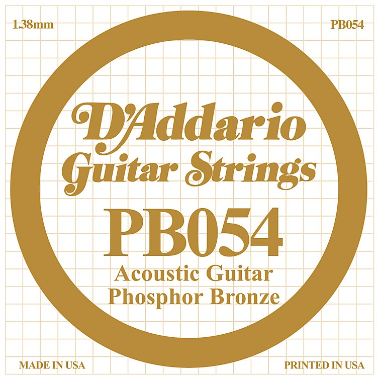 D'AddarioPB054 Phosphor Bronze Single Acoustic Guitar String