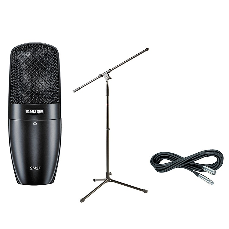 ShurePGA27 Condenser Mic with Cable and Stand