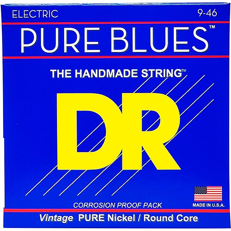 DR StringsPHR9/46 Pure Blues Nickel Lite'n'Heavy Electric Guitar Strings