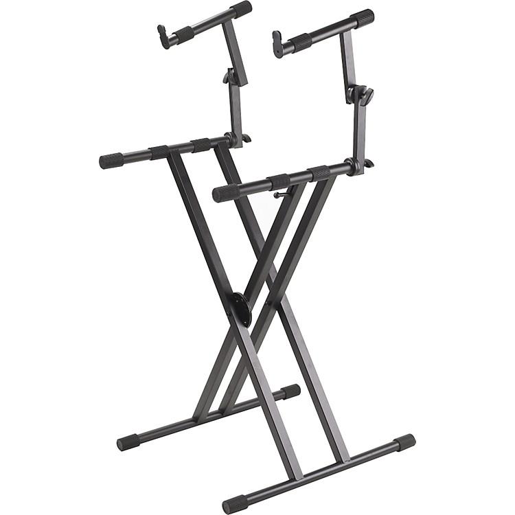 ProlinePL402 2-Tier Double X-Braced Keyboard Stand
