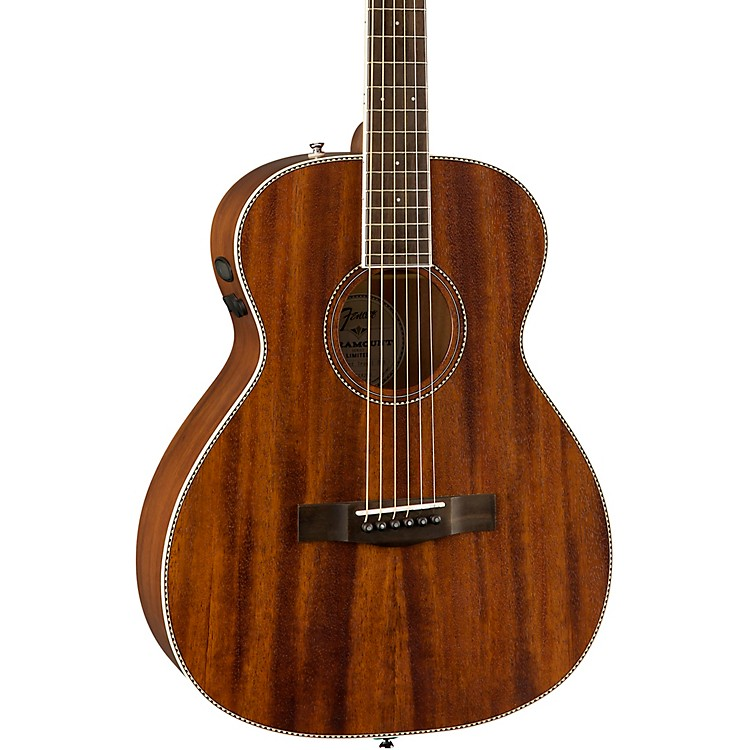 fender pm te travel all mahogany acoustic electric guitar natural music123. Black Bedroom Furniture Sets. Home Design Ideas